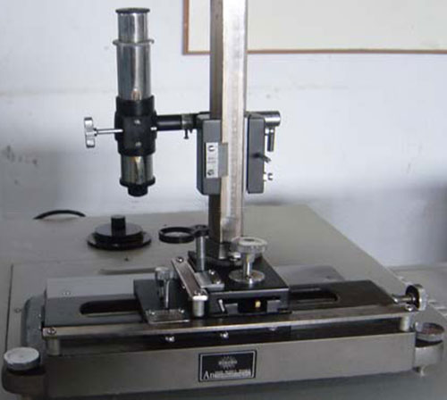 TRAVELLING MICROSCOPE SUITABLE FOR THICKNESS MEASUREMENT FLOW PATH MEASUREMENT